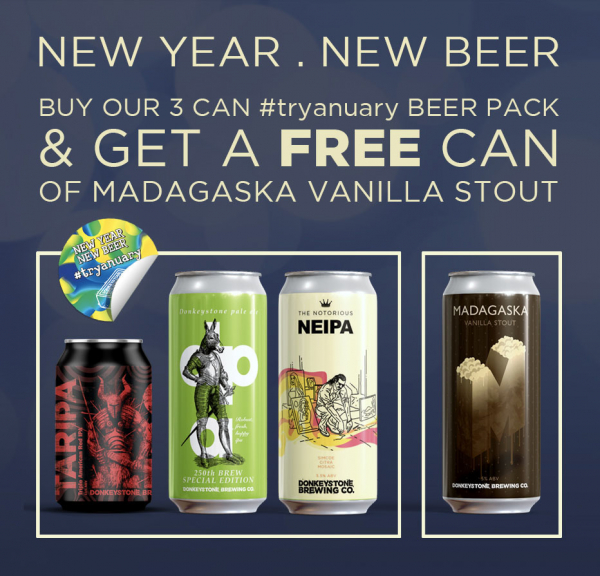 Buy 3 cans and get a vanilla stout free